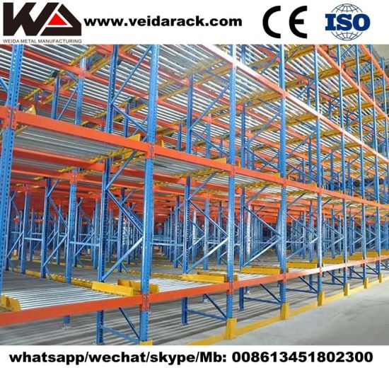 Warehouse Gravity Flow Shelving